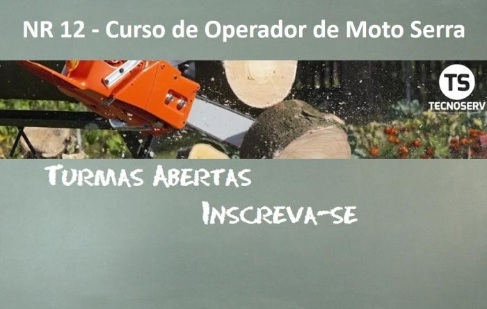 NR 12 - Curso de Operador de Moto Serra - 08 Horas
