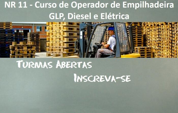 NR 11 - Curso de Operador de Empilhadeira GLP/Diesel/Elétrica - 16 Horas