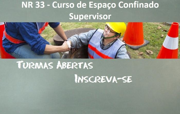 NR 33 - Curso de Espaço Confinado Supervisor - 40 Horas