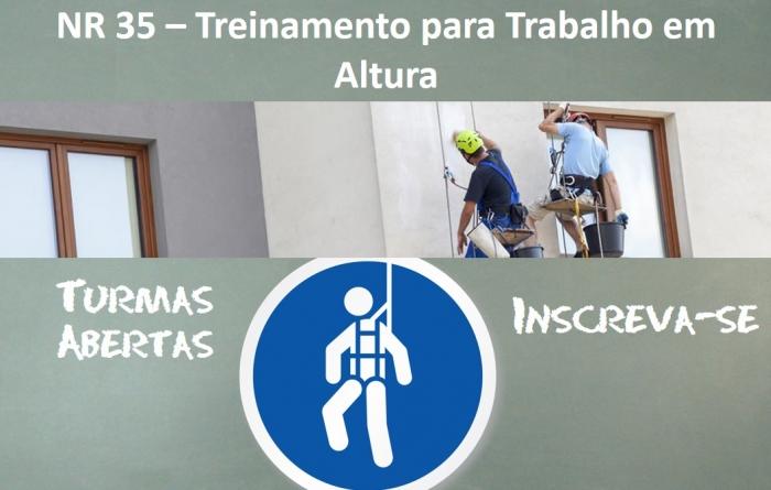 NR 35 – Treinamento para Trabalho em Altura - 08 Horas
